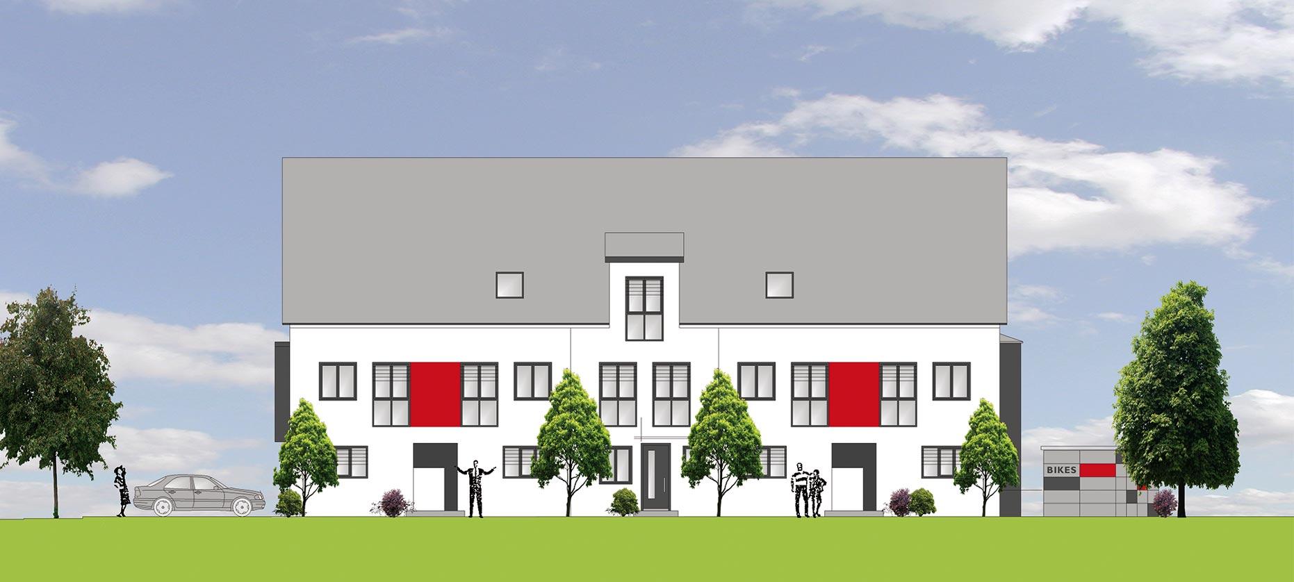 gartengestaltung stutensee einfamilienhäuser in der reihe, stutensee-friedrichstal